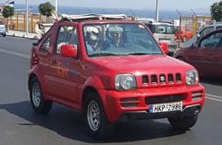 Huur een jeep cabrio op Chania airport Kreta.